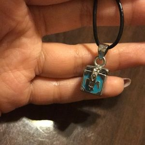 Little blue box necklace